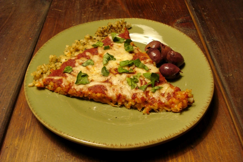 Pizza w/ Brown Rice Crust