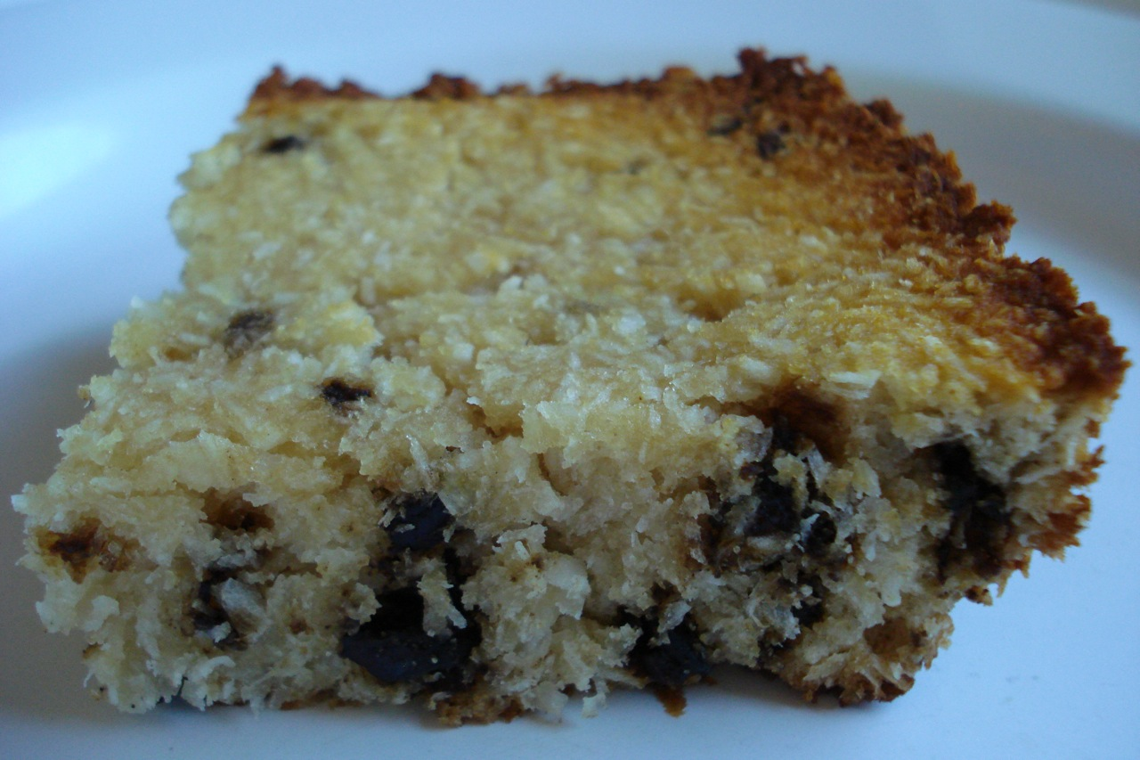 Coconut Chocolate Chip Cake — Real Food Tastes Good