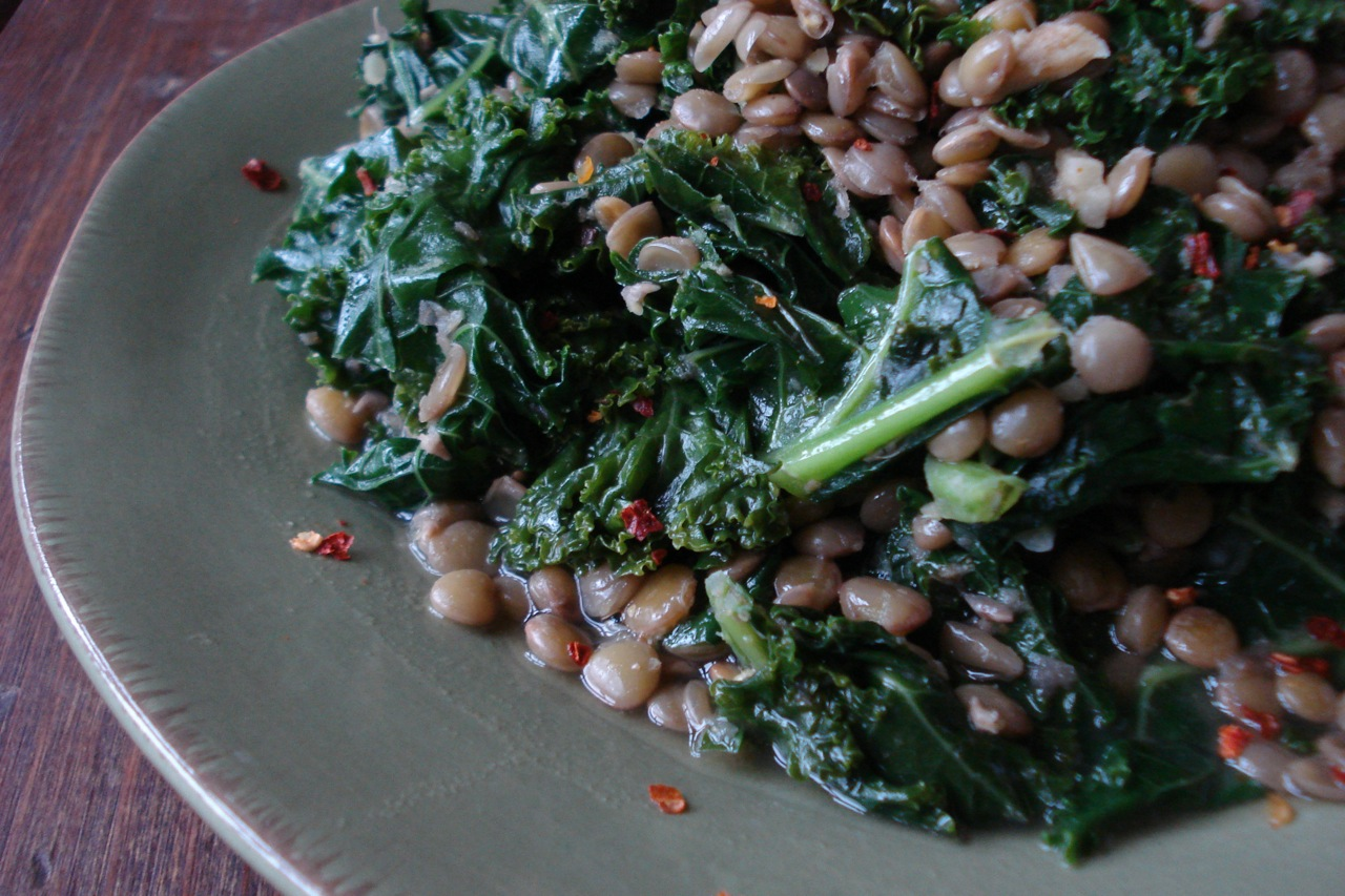 Indian Spiced Lentils w/ Kale