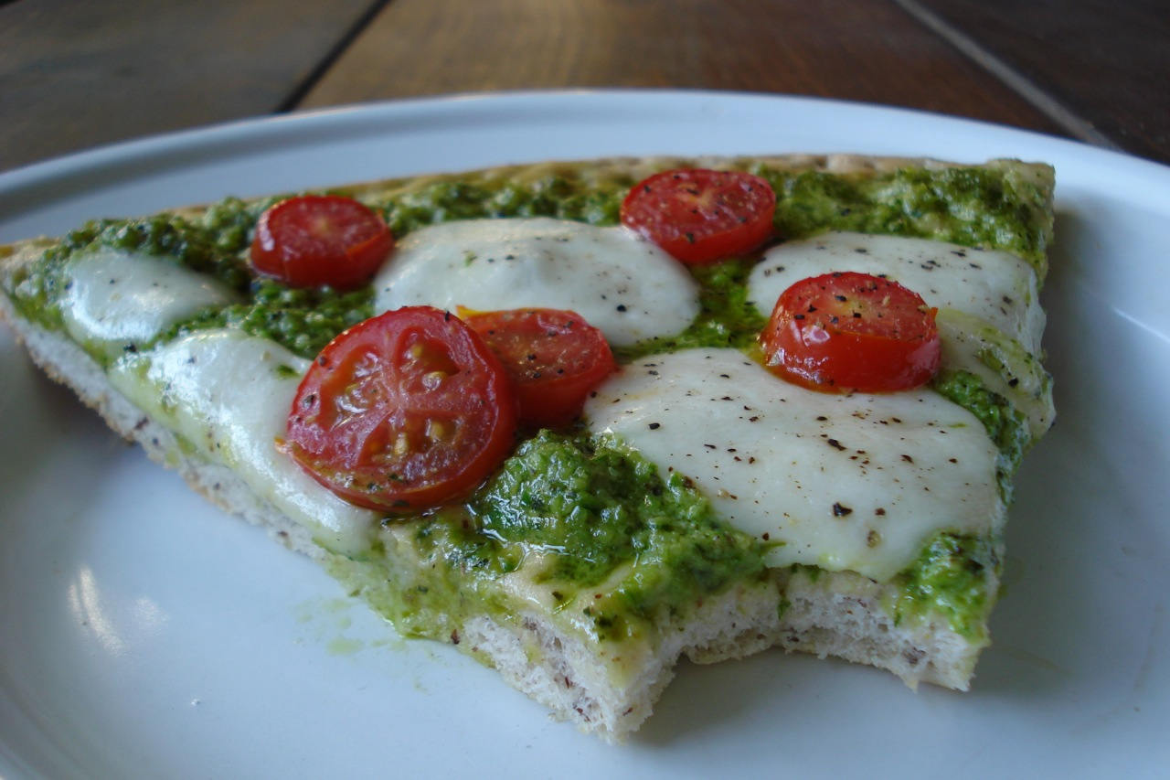 Garlic Scape Pesto Pizza