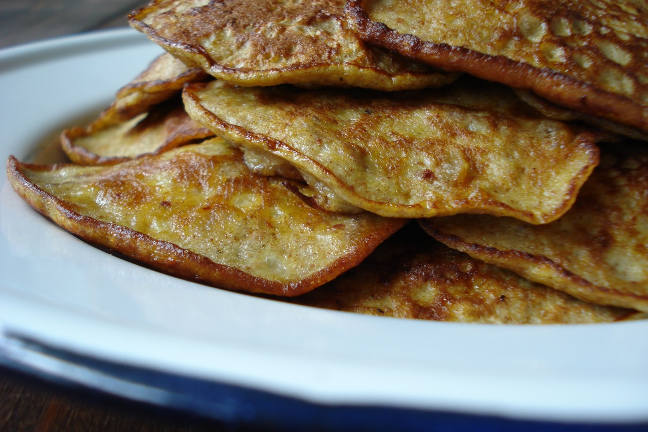 Apple-Cinnamon-Walnut Pancakes