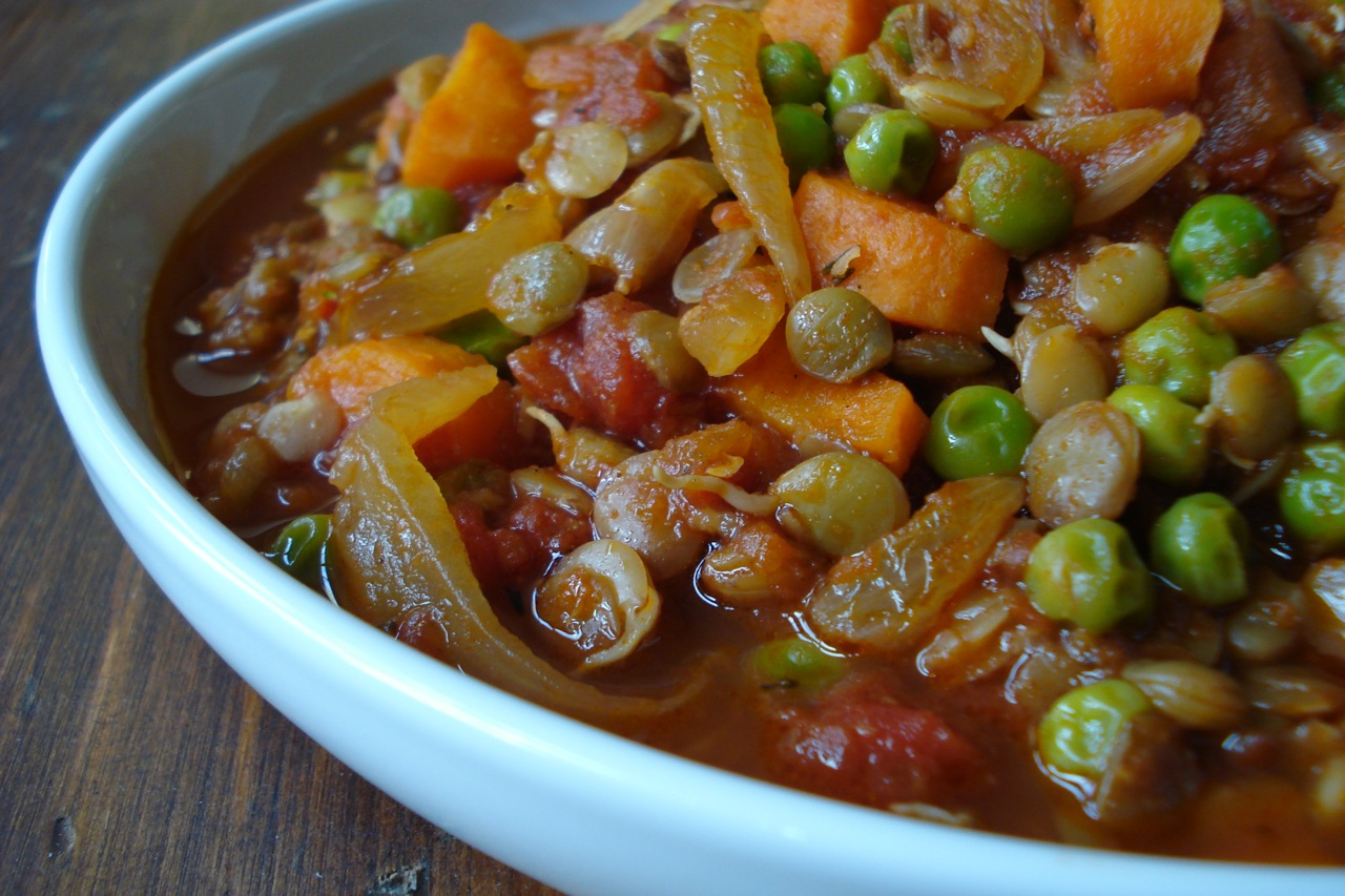Spicy Tomato Lentil Stew