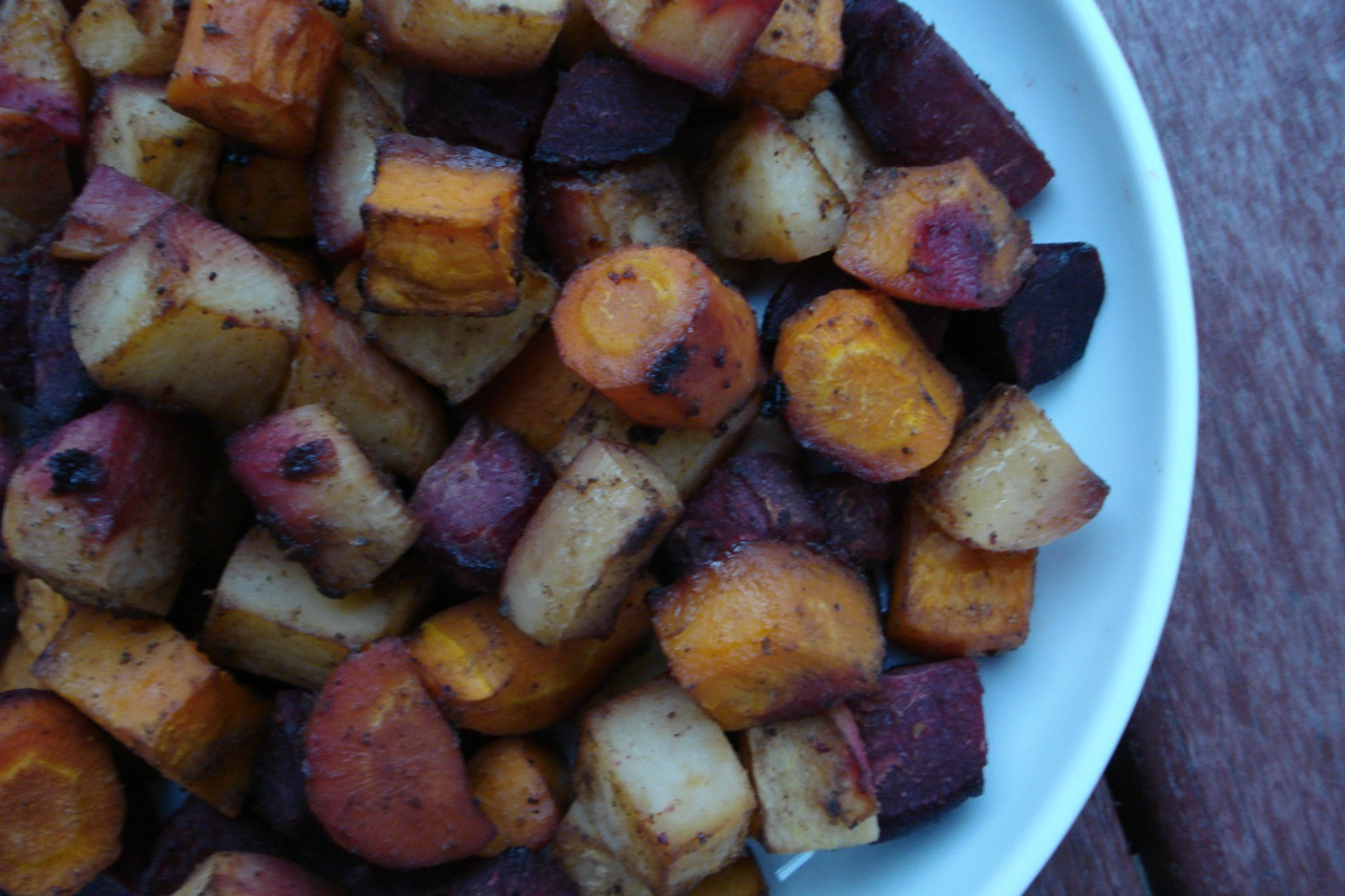 Caribbean Roasted Root Veggies