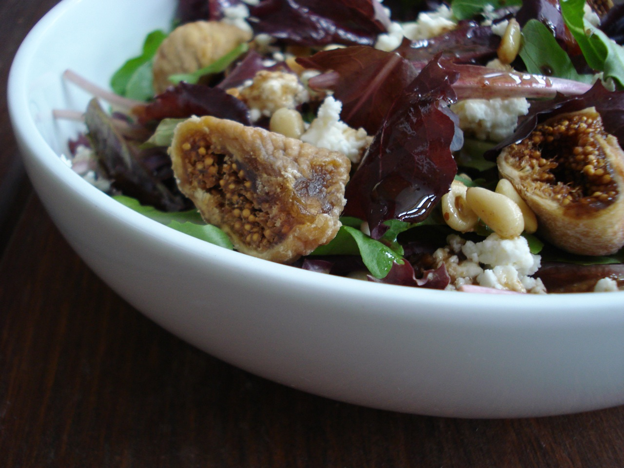 Feta, Fig & Toasted Pine Nut Salad