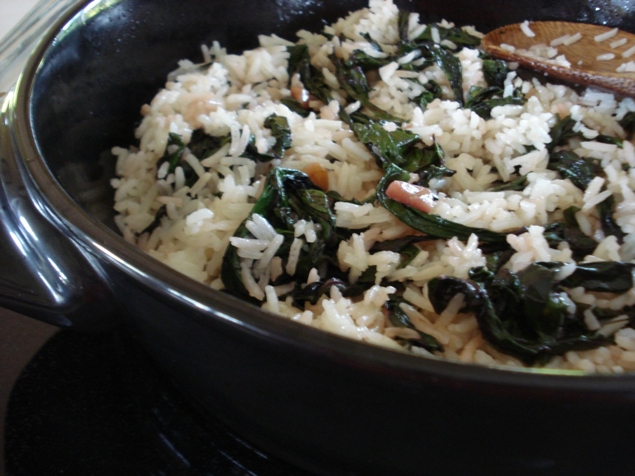 Buttery Rice w/ Greens