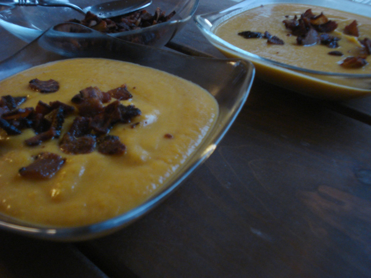 Butternut Squash Bacon Soup
